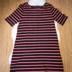 Gap Navy and Coral Stripped Dress